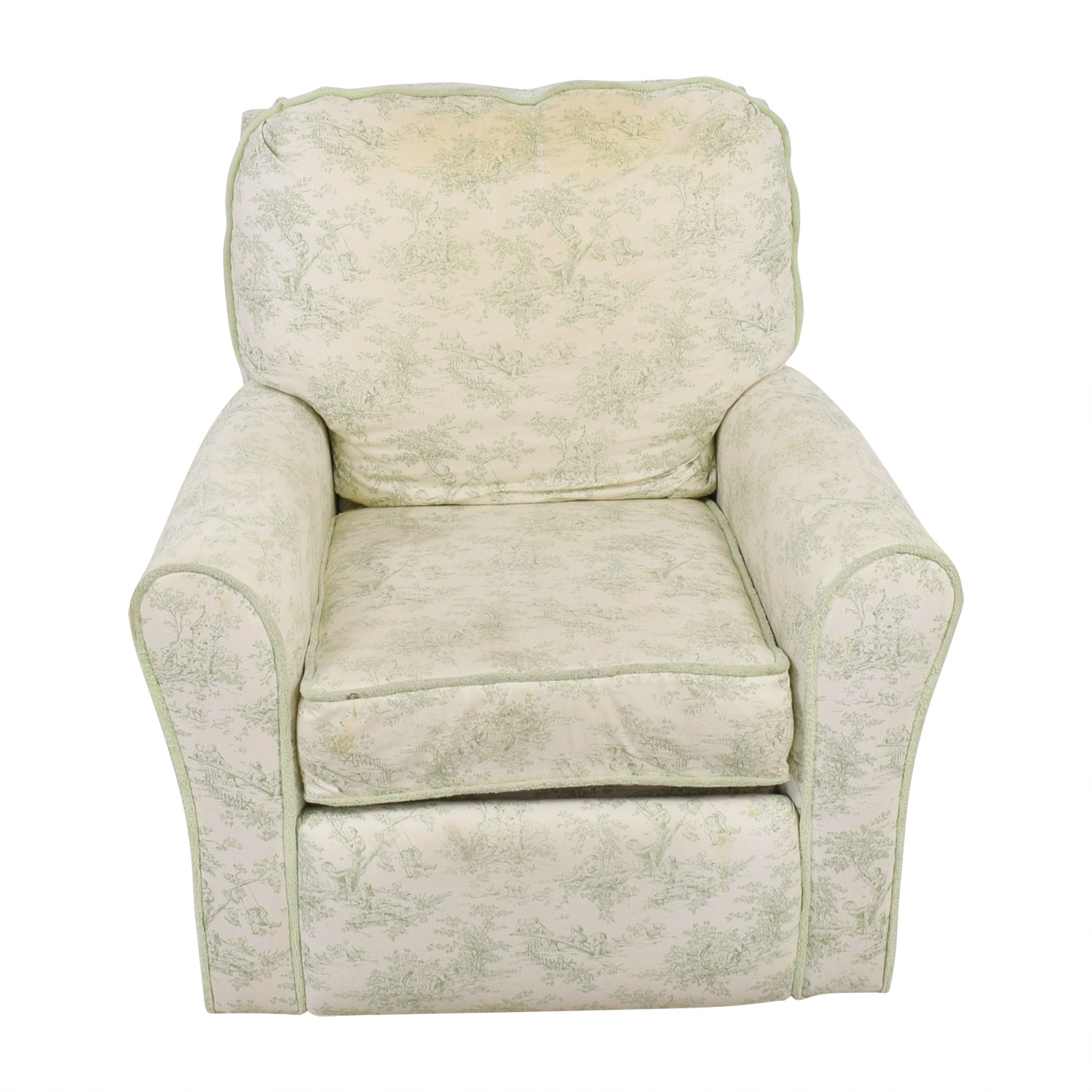 Bellini Baby Children's Playground White and Green Rocking Chair Recliner / Accent Chairs
