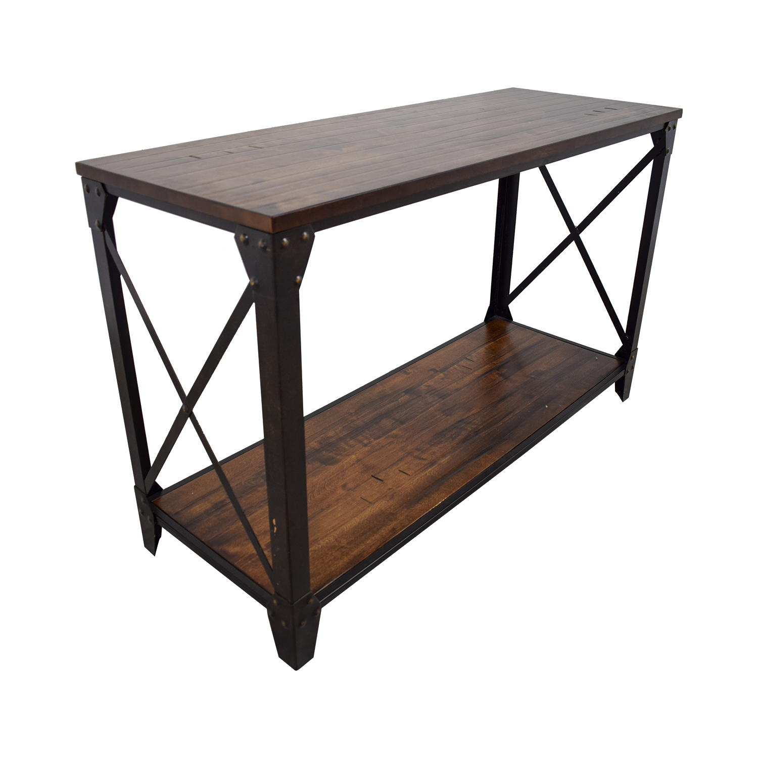 Console Tables Metal Rustic Wooden Console For Sale