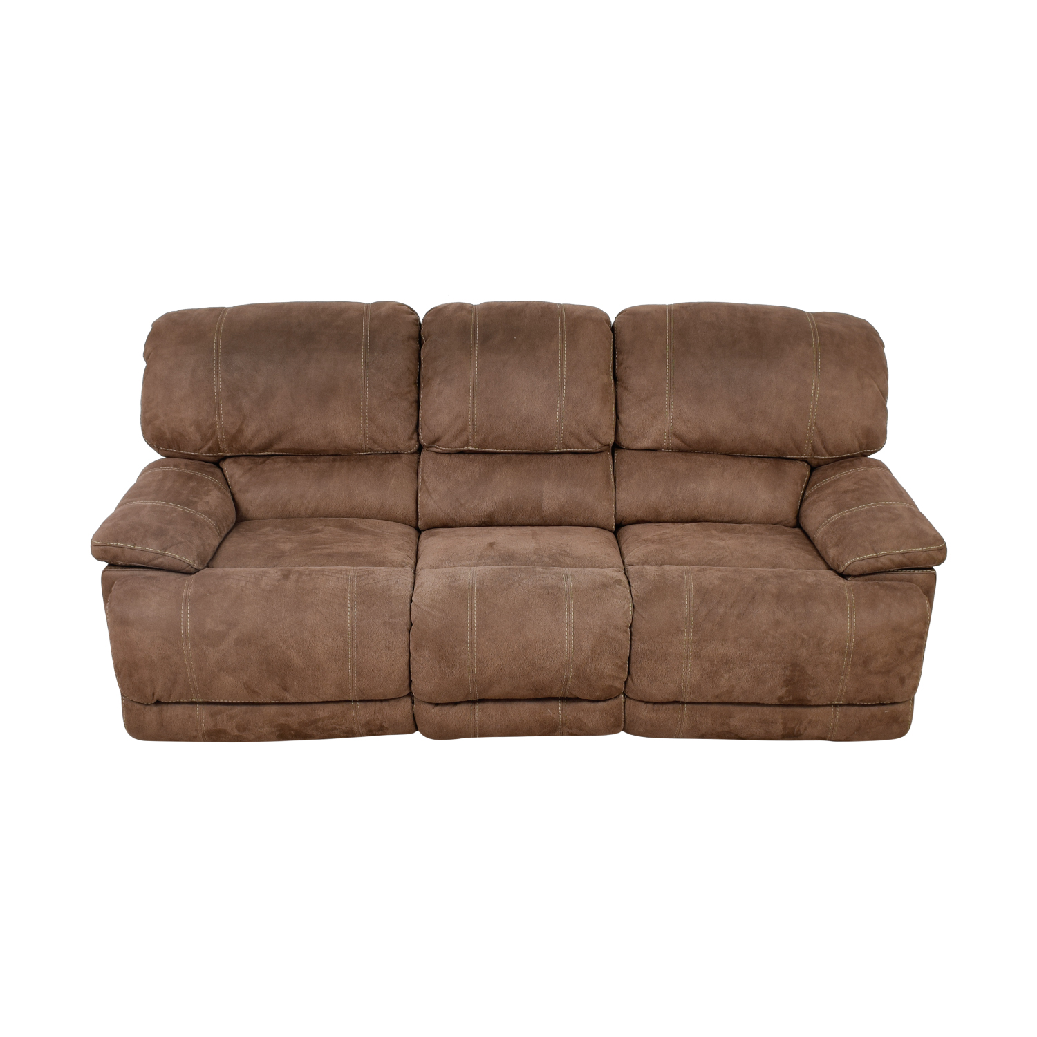 buy Brown Three-Cushion Recliner Sofa