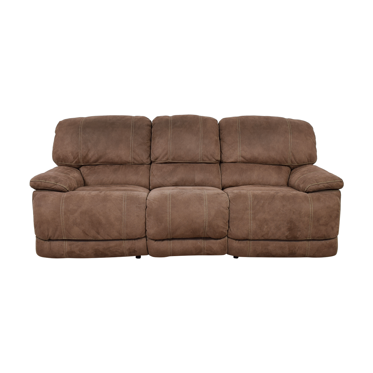 Brown Three-Cushion Recliner Sofa Chairs