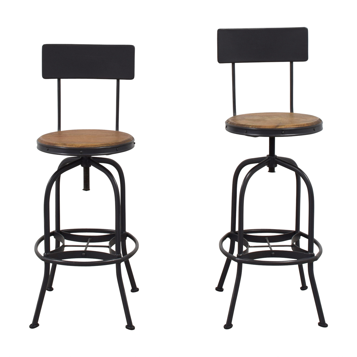 Adjustable Height Bar Stools used