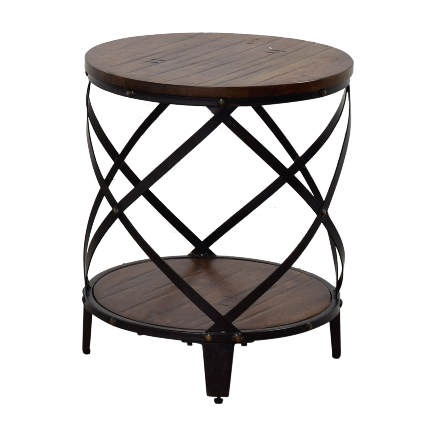 shop Steve Silver Steve Silver Round Wood and Metal End Table online