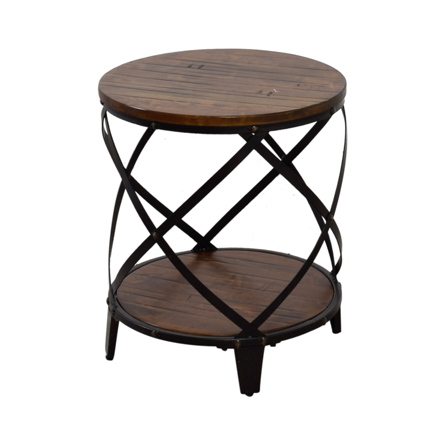 Steve Silver Steve Silver Round Wood and Metal End Table Tables
