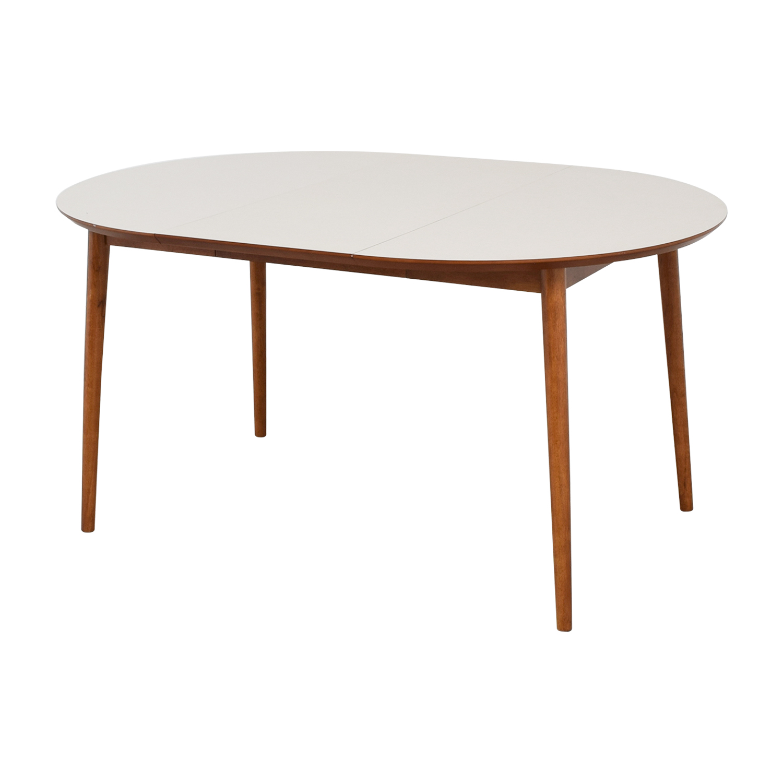 41 off west elm west elm fishs eddy expandable dining table tables. Black Bedroom Furniture Sets. Home Design Ideas
