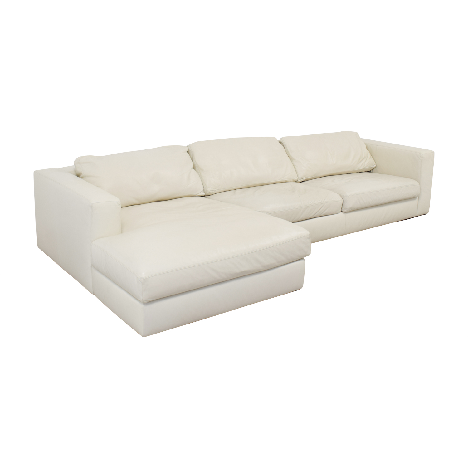 Design Within Reach Design Within Reach by Jeffrey Bernett Reid White Left Chaise Sectional for sale
