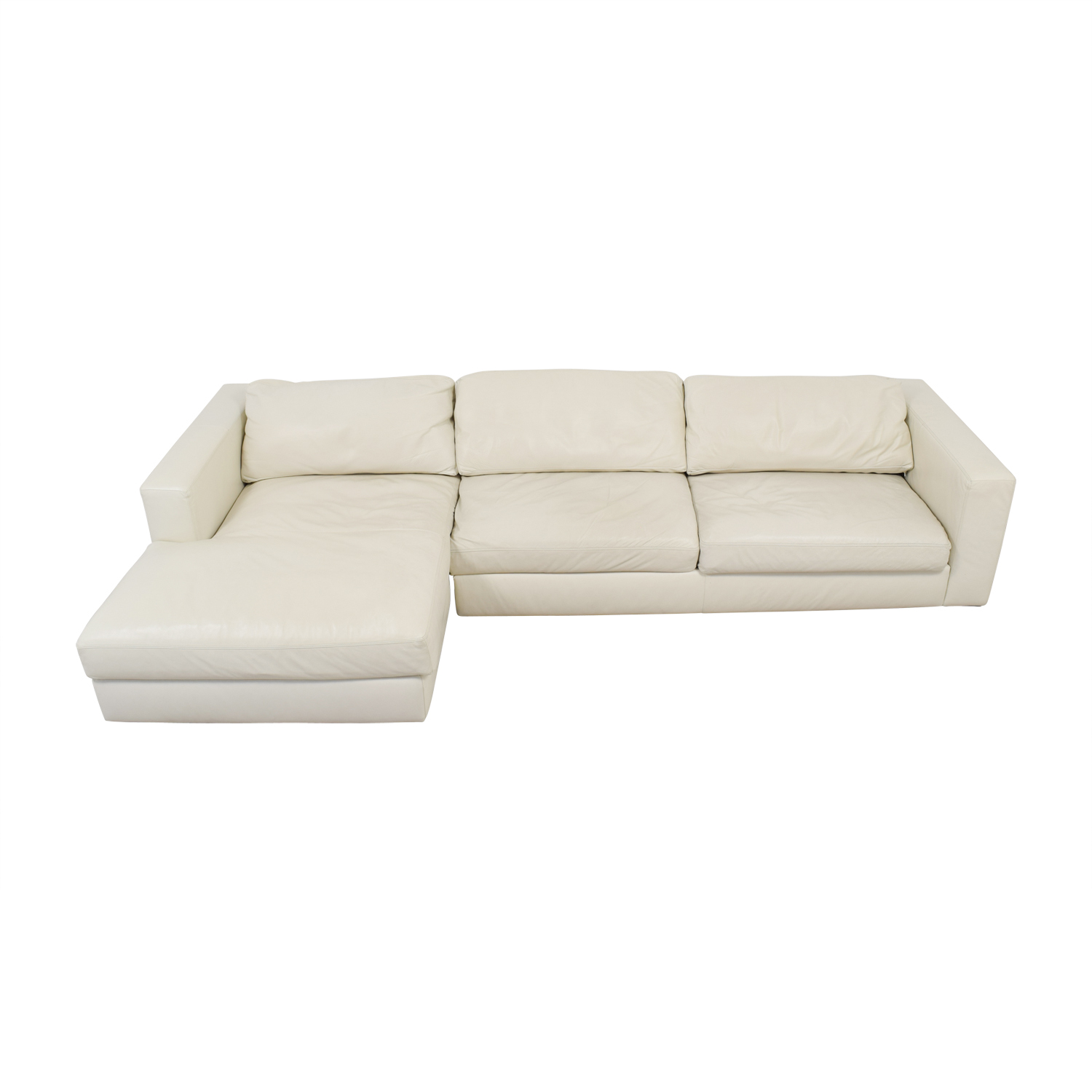 Design Within Reach Design Within Reach by Jeffrey Bernett Reid White Left Chaise Sectional