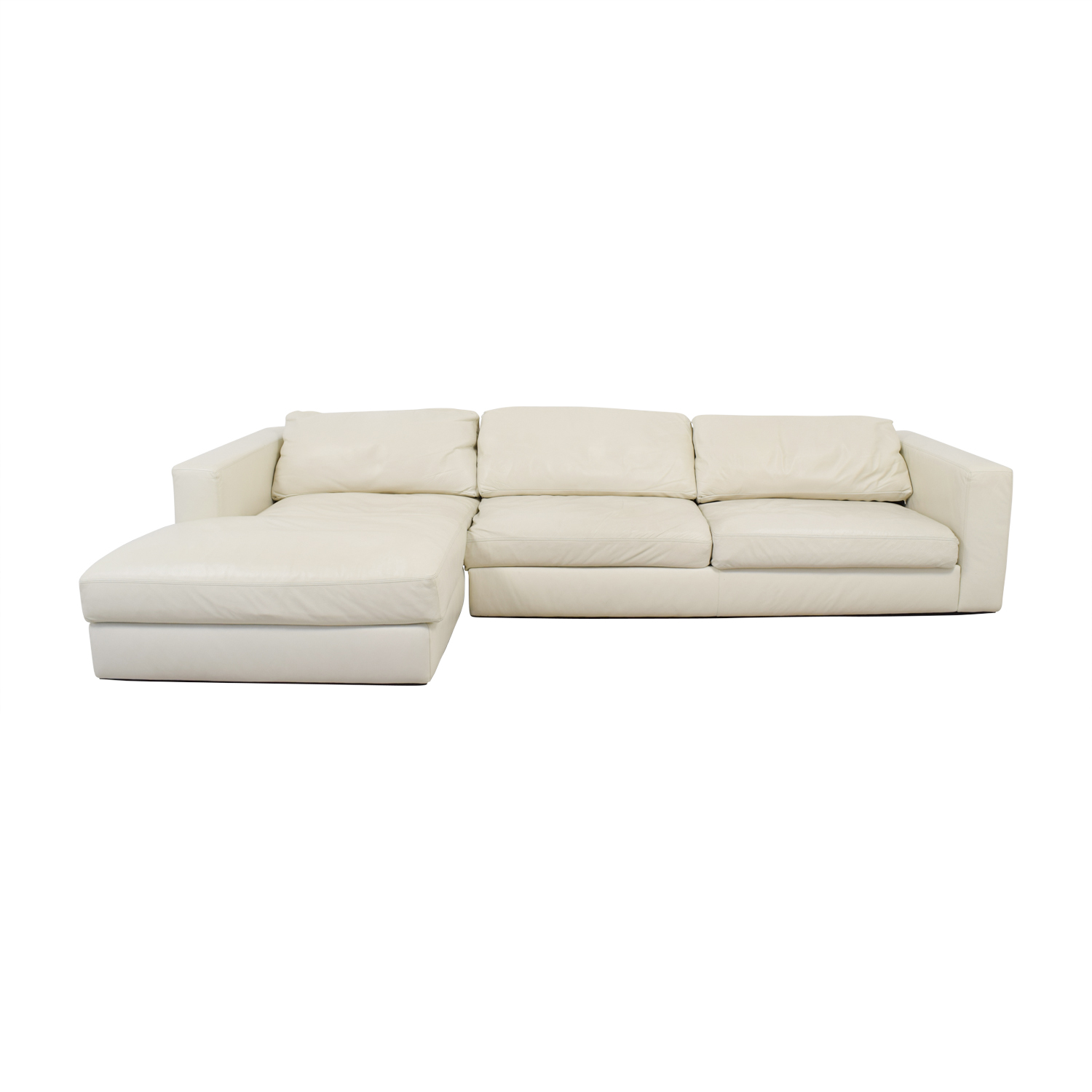 buy Design Within Reach by Jeffrey Bernett Reid White Left Chaise Sectional Design Within Reach