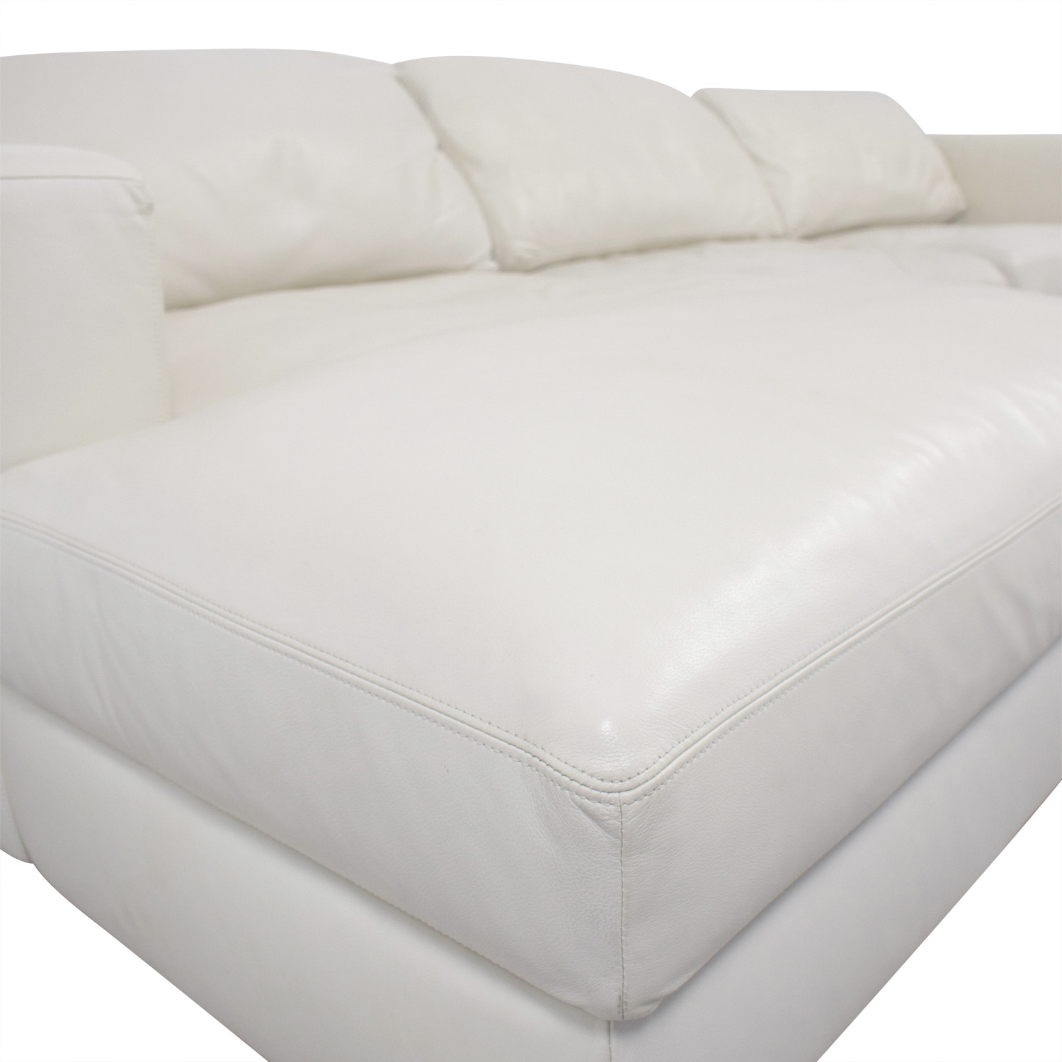 buy Design Within Reach by Jeffrey Bernett Reid White Left Chaise Sectional Design Within Reach Sofas