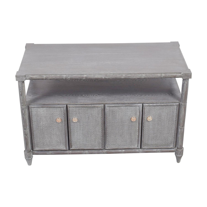 Bungalow 5 Fairfax Grey Cerused Oak Cabinet Bungalow 5