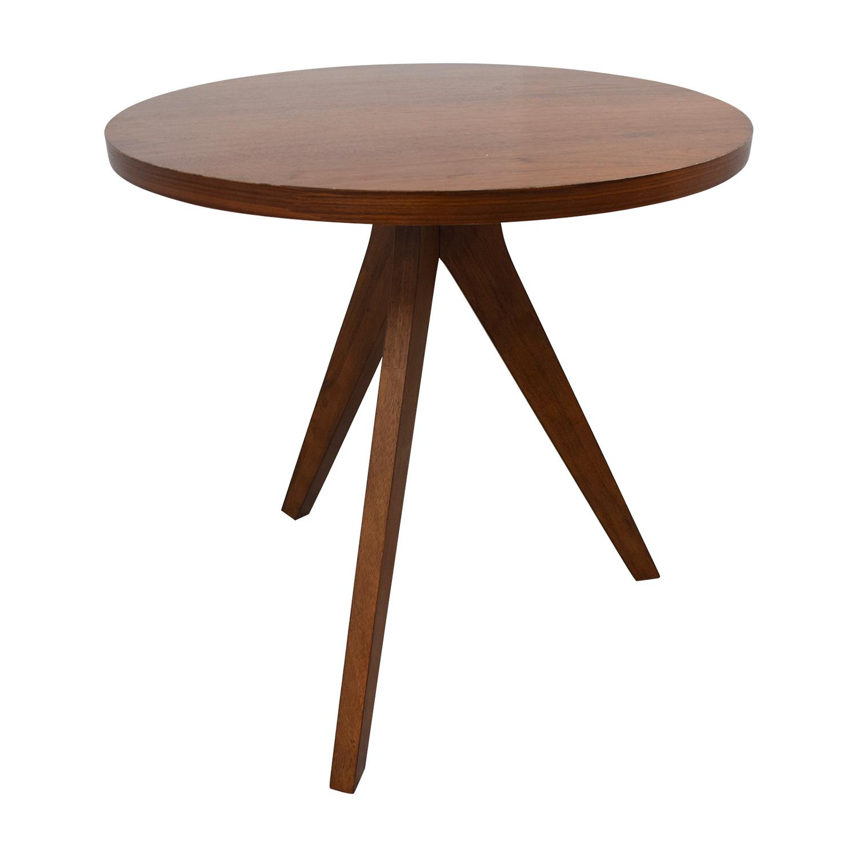 buy West Elm Walnut Tripod Table West Elm Tables