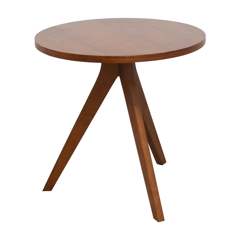 West Elm West Elm Walnut Tripod Table Accent Tables
