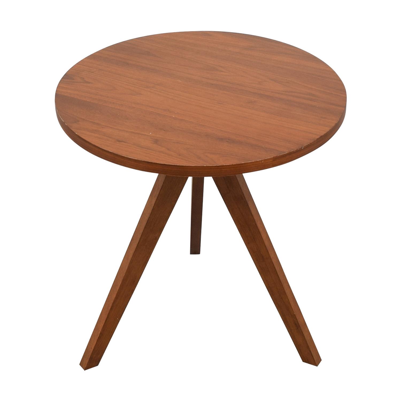 West Elm Walnut Tripod Table / Tables