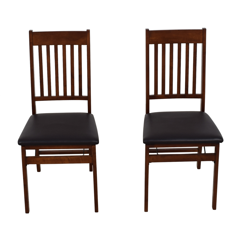 ... Buy Linon Home Decor Mission Back Wood Folding Chairs Linon Home Decor  Accent Chairs ...