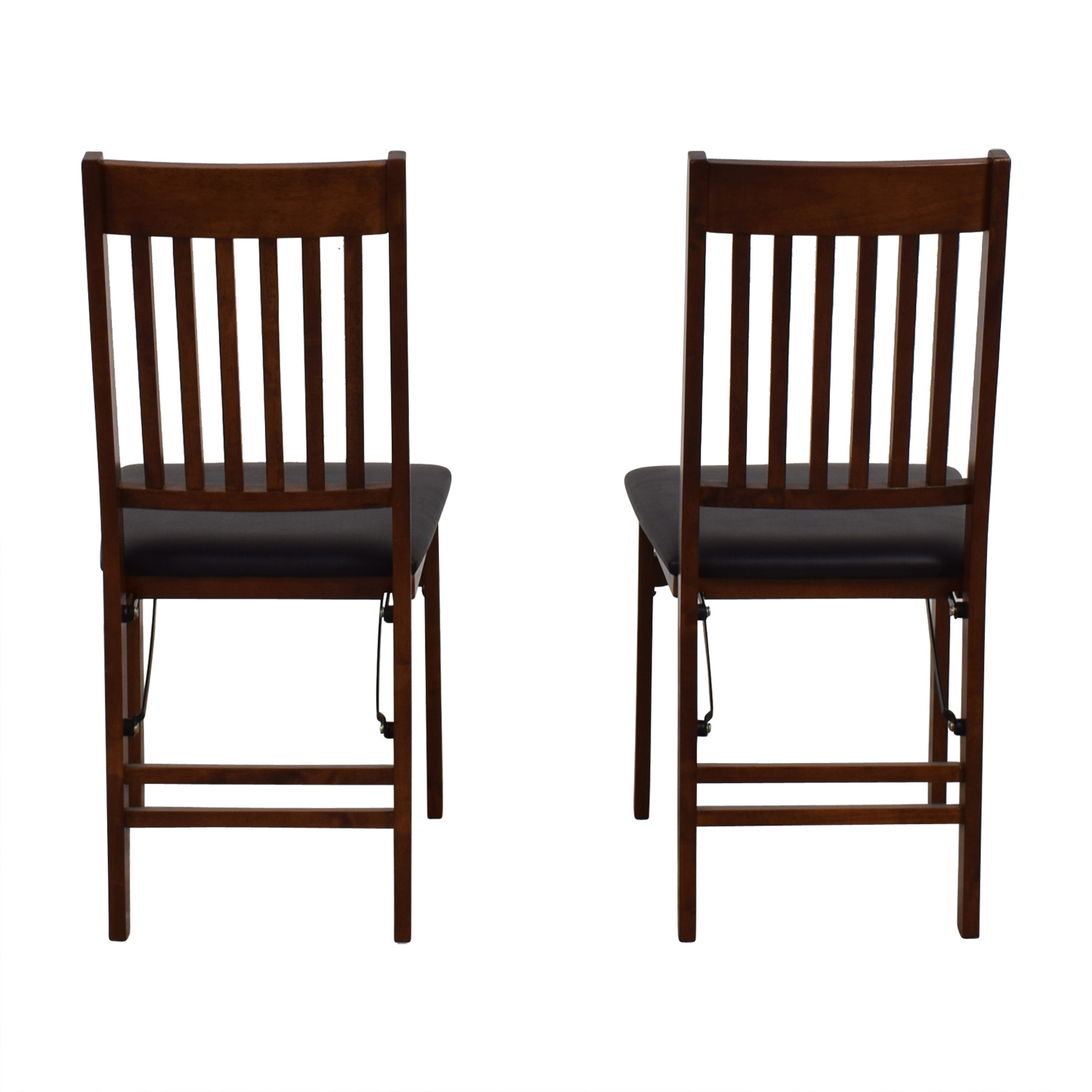 55 Off Linon Home Decor Linon Home Decor Mission Back Wood Folding Chairs Chairs