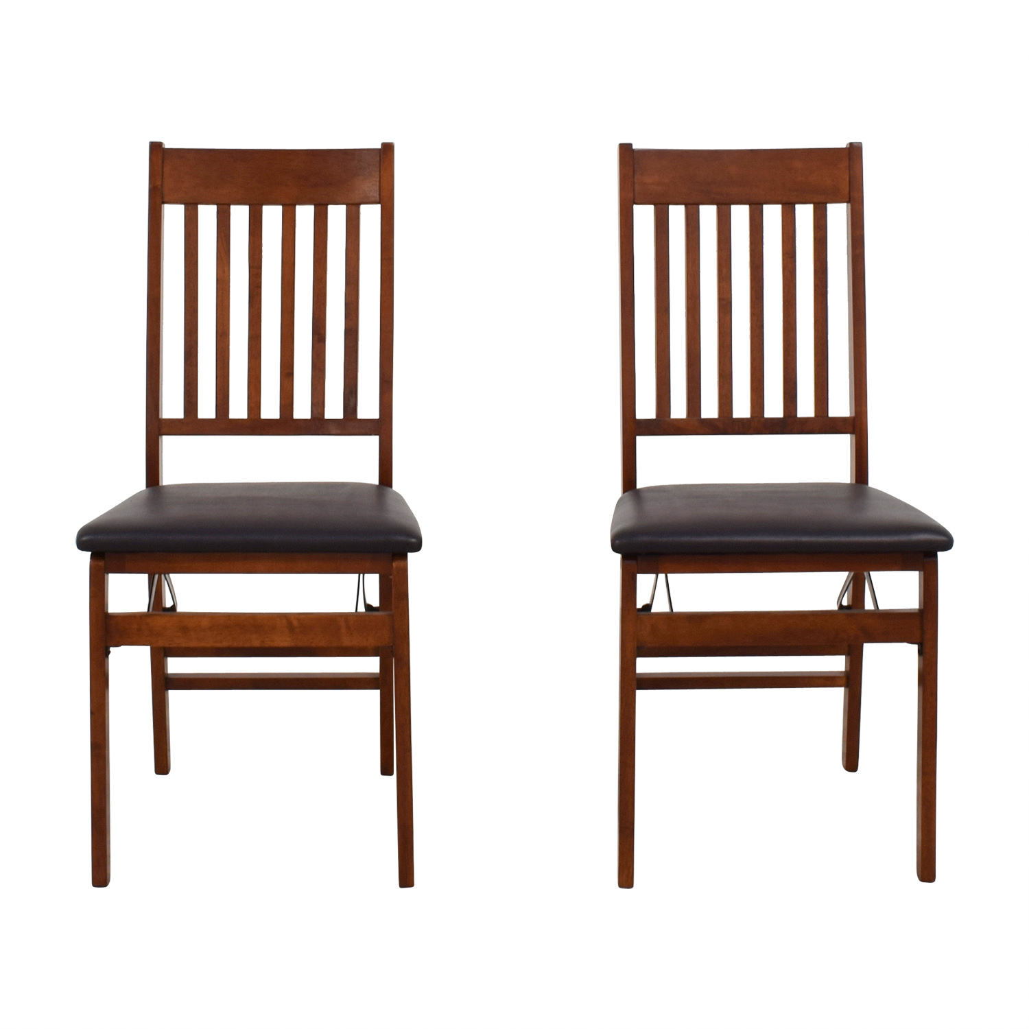 Linon Home Decor Linon Home Decor Mission Back Wood Folding Chairs used