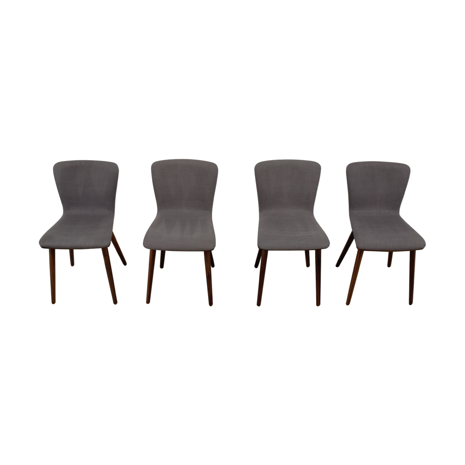 shop Article Sede Thunder Gray Walnut Dining Chairs Article Chairs