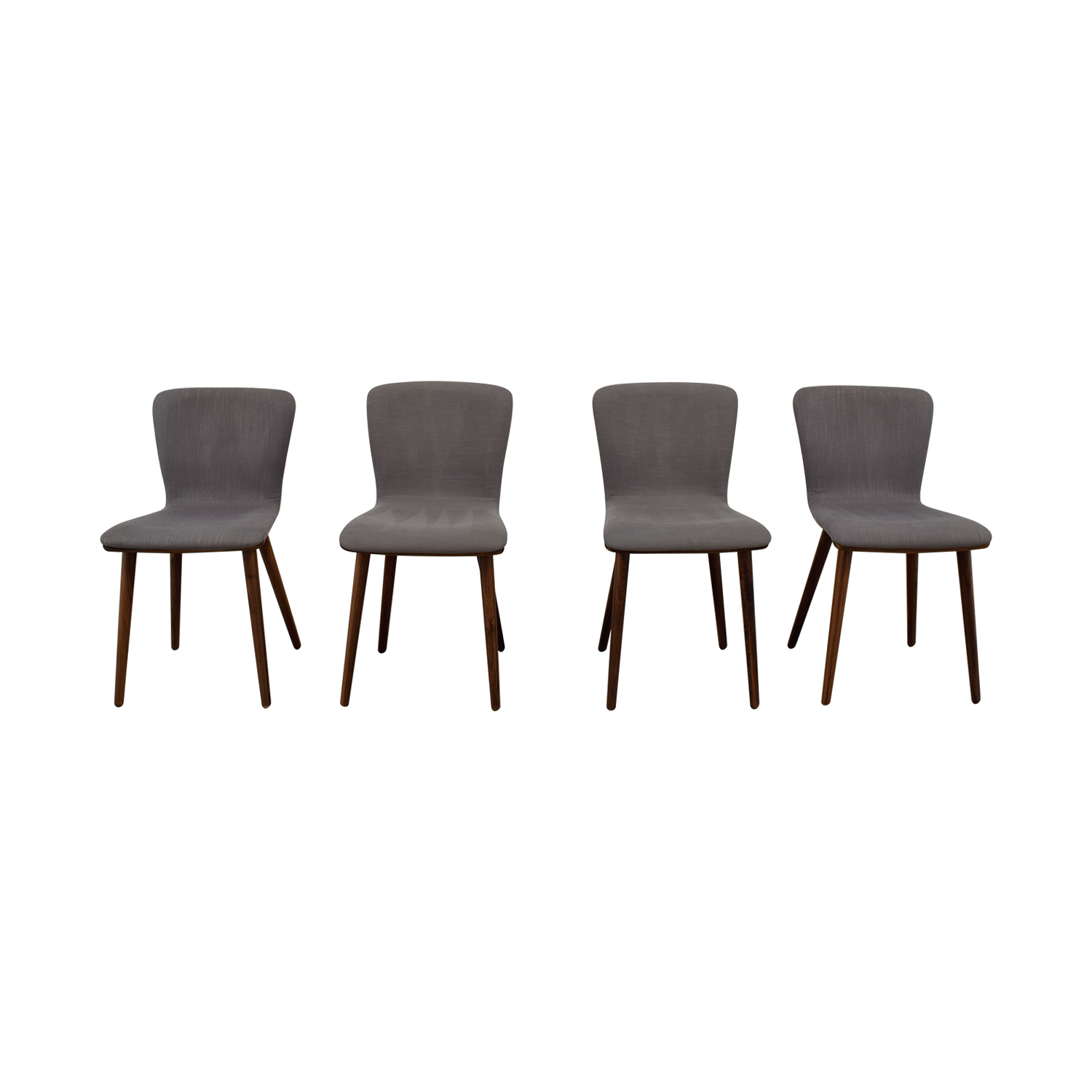 Article Article Sede Thunder Gray Walnut Dining Chairs nyc