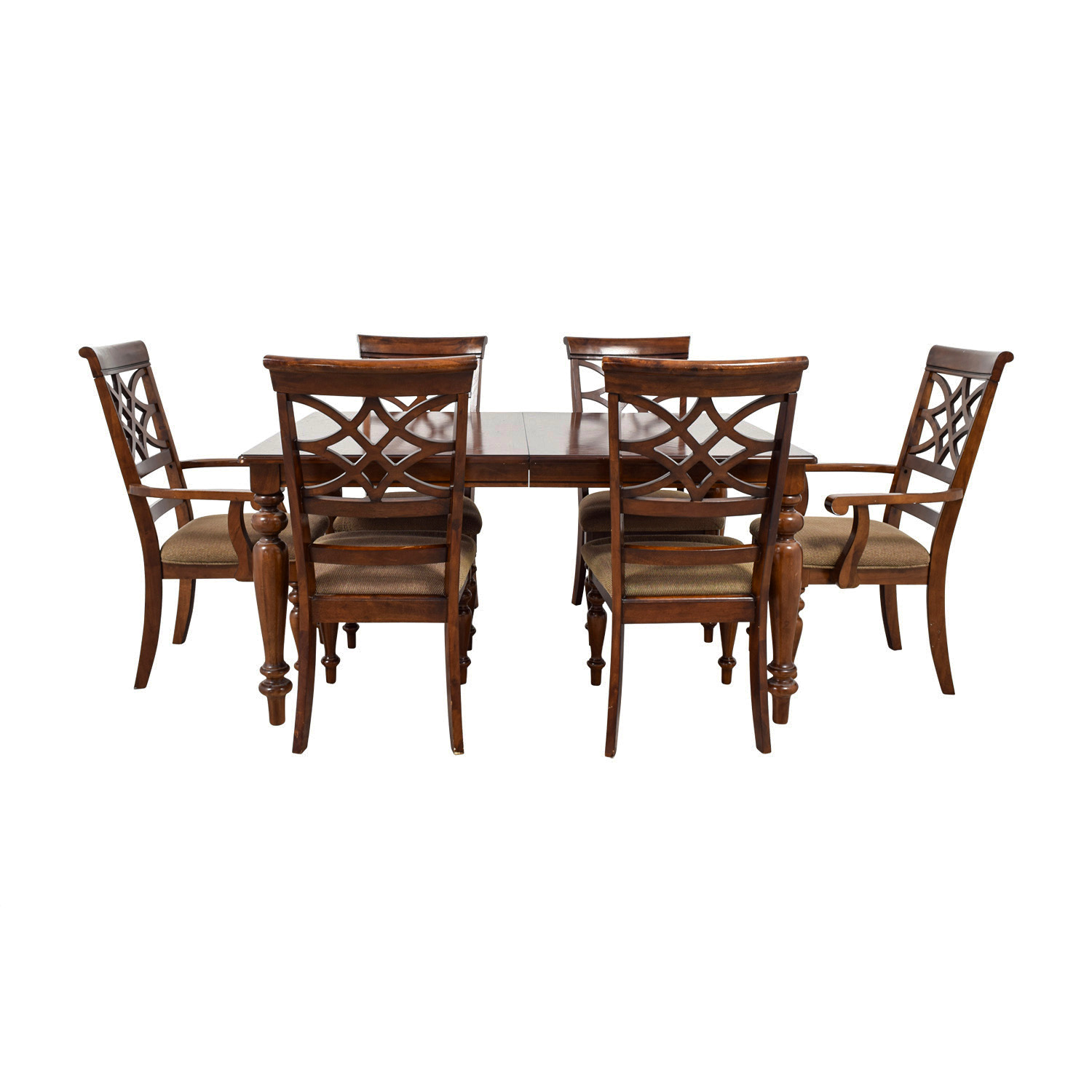 buy Bob's Furniture Wood Dining Set Table with Extention Leaf Bob's Furniture Dining Sets