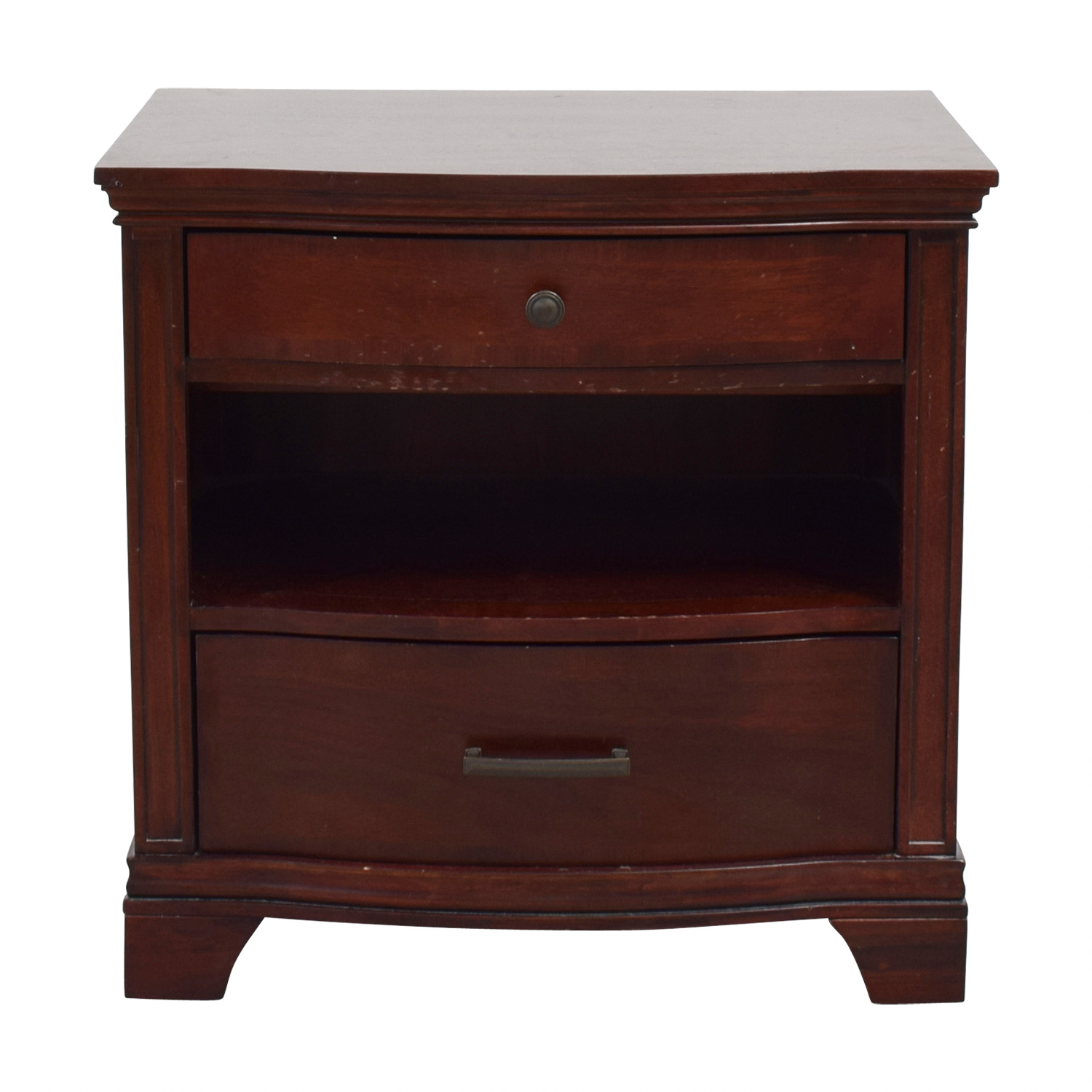shop Universal Furniture Two-Drawer Wood Nightstand Universal Furniture End Tables