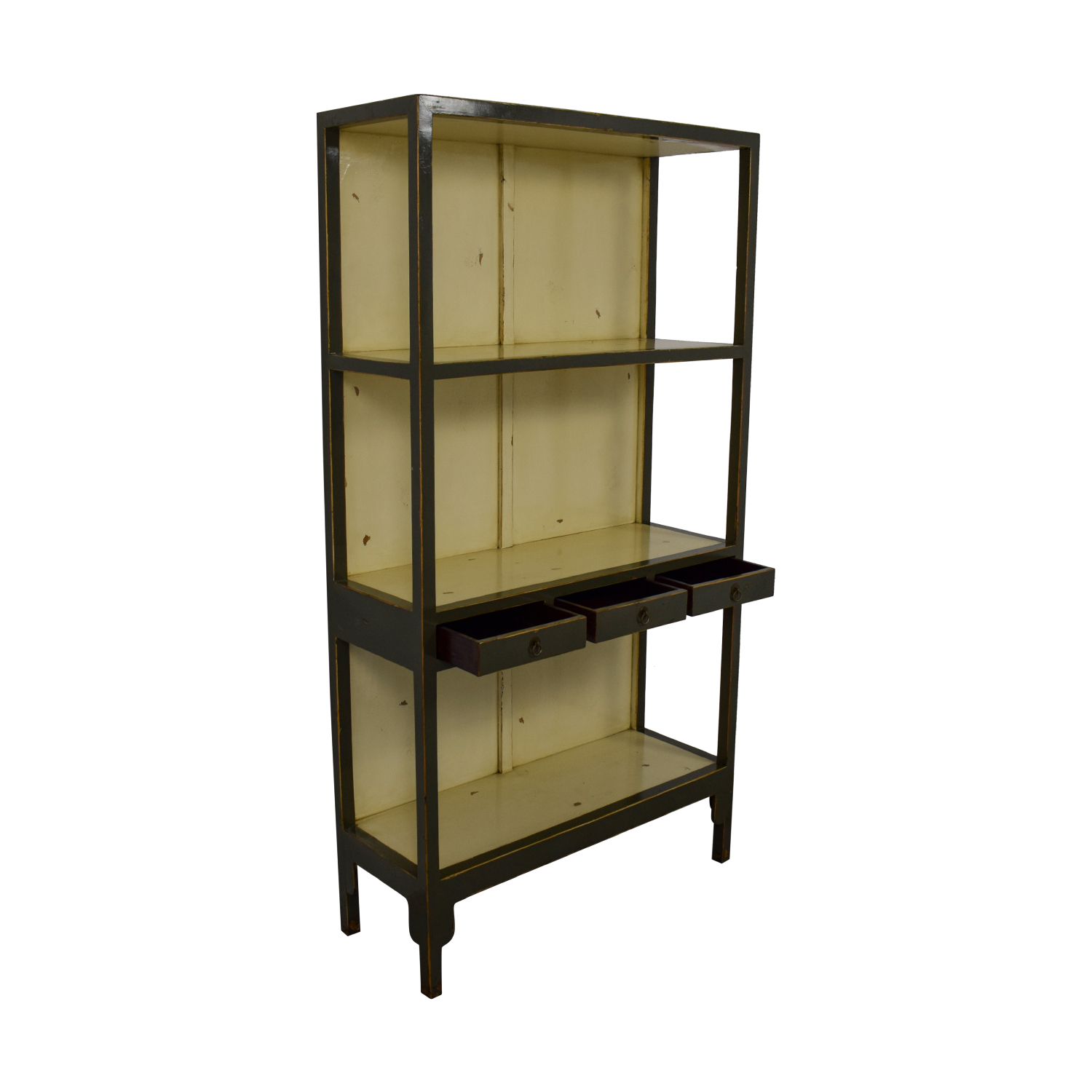 Horchow Horchow Distressed Decorative Shelving Green