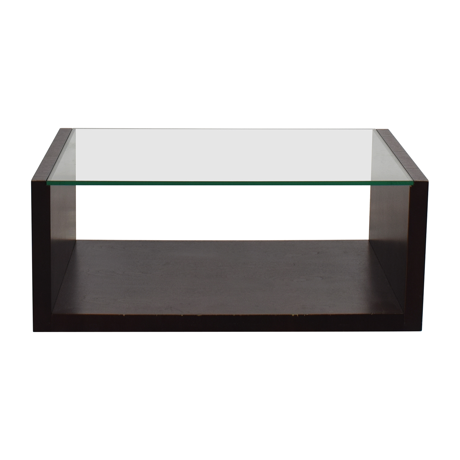 shop Crate & Barrel Glass Coffee Table Crate & Barrel Coffee Tables