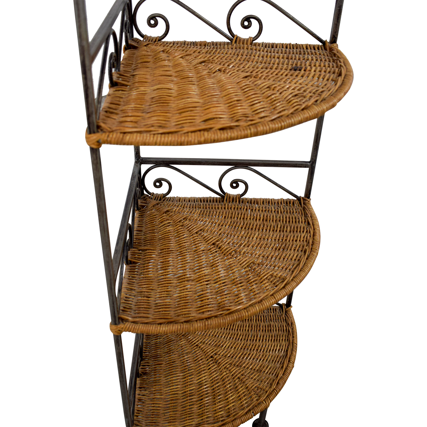 buy Pier 1 Imports Metal and Wicker Corner Shelves Pier 1 Imports Bookcases & Shelving