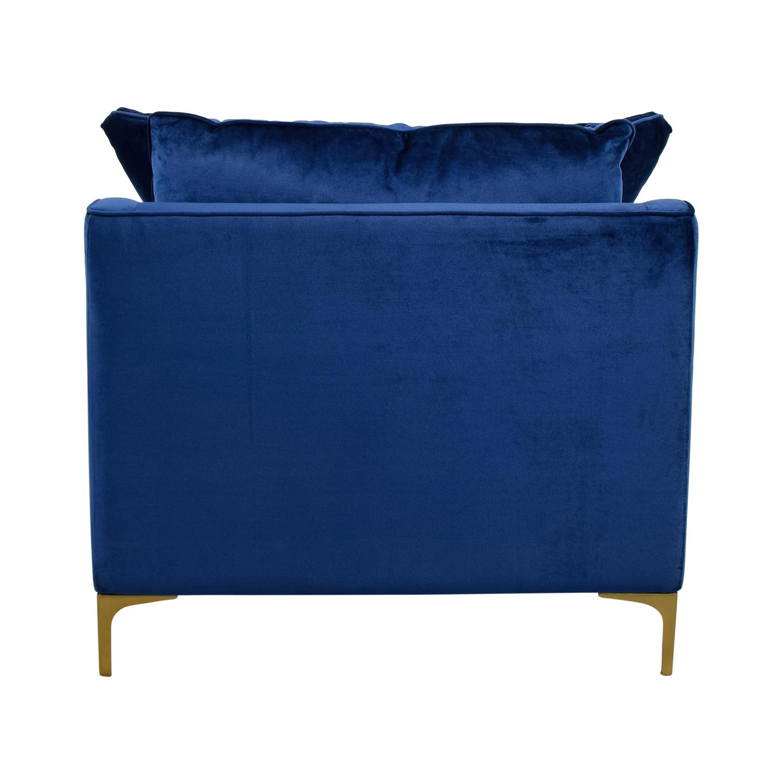 Interior Define Caitlin Oxford Blue Velvet Chair
