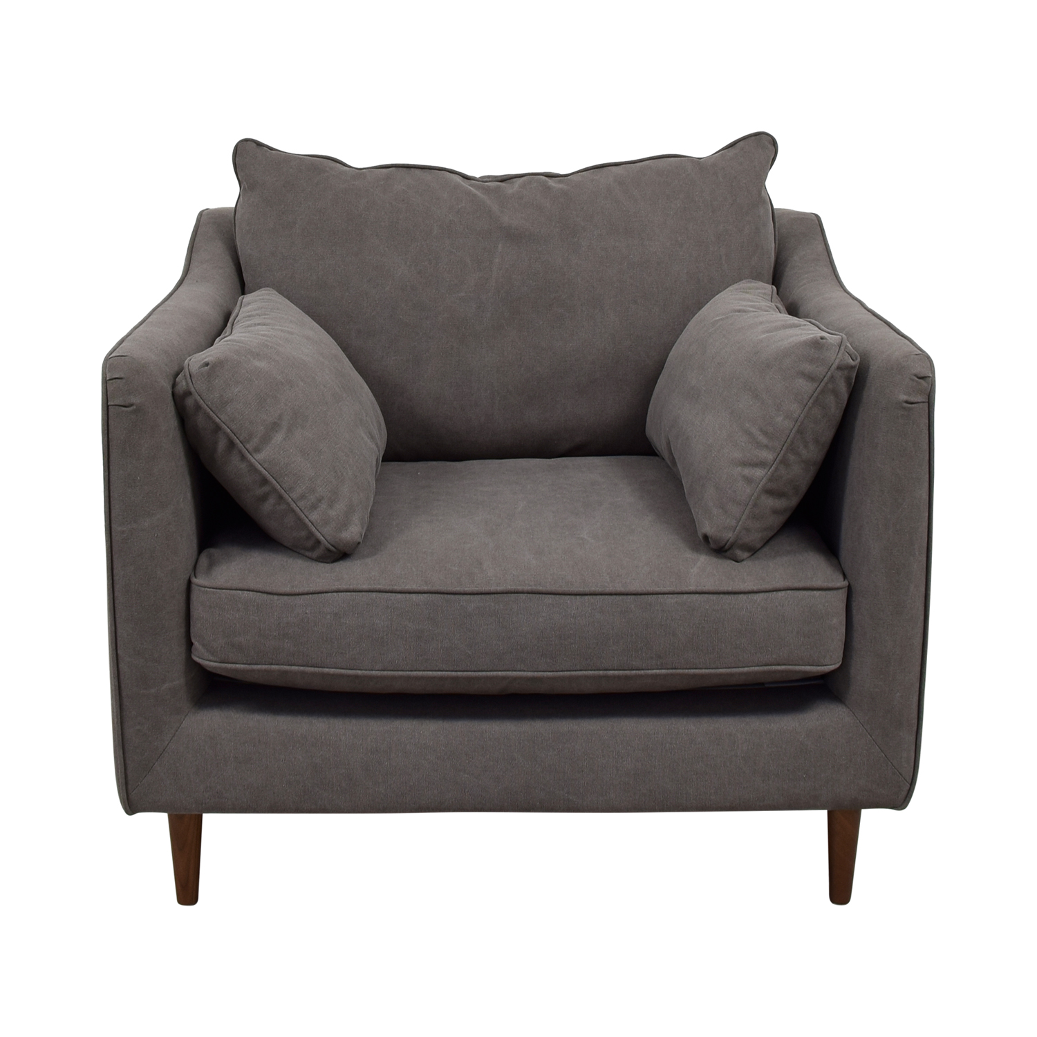 buy  Caitlin Grey Cargo Canvas Accent Chair online