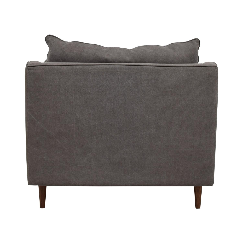 buy Caitlin Grey Cargo Canvas Accent Chair