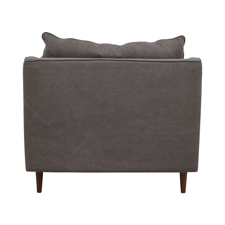 shop Caitlin Grey Cargo Canvas Accent Chair