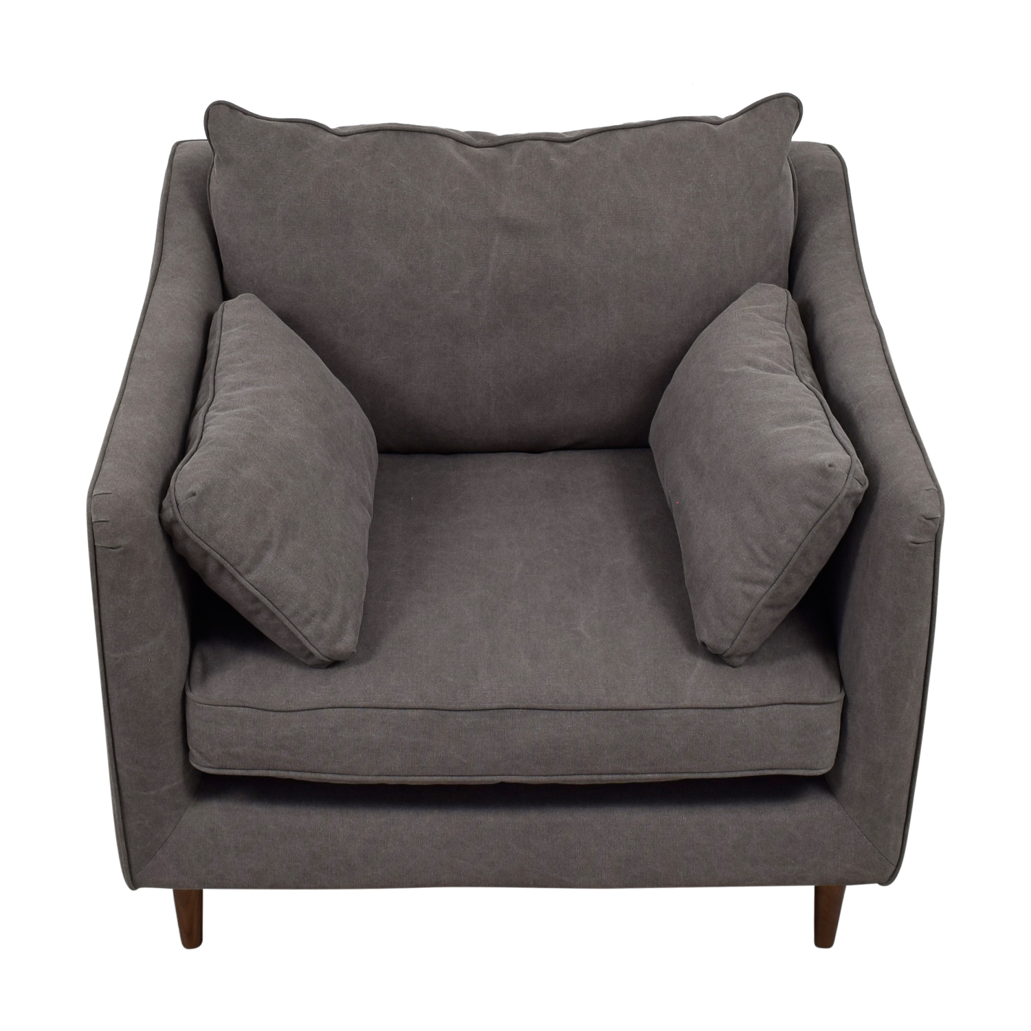 ... Caitlin Grey Cargo Canvas Accent Chair Grey ...