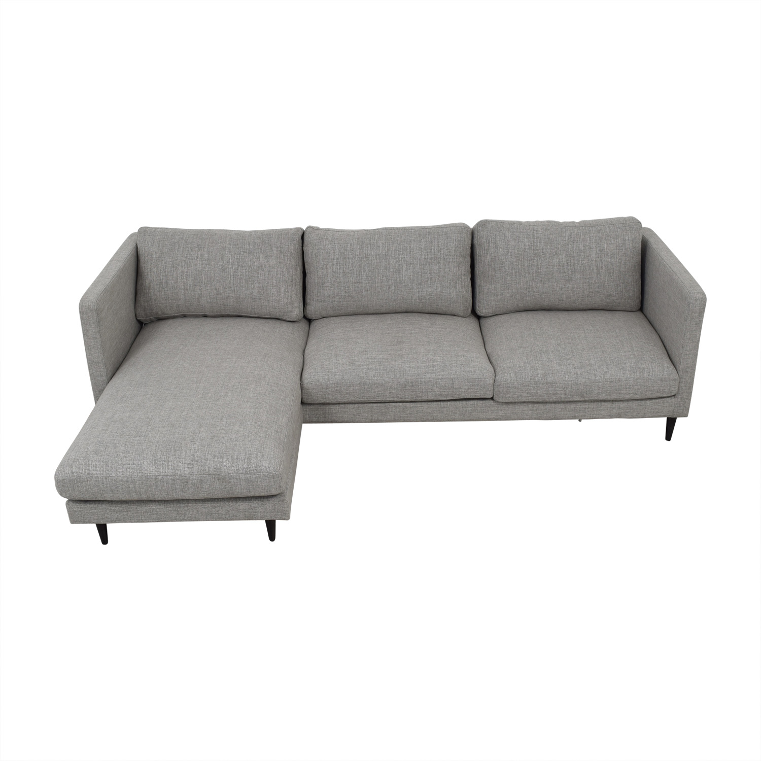Oliver Grey Reversible Chaise Sectional on sale