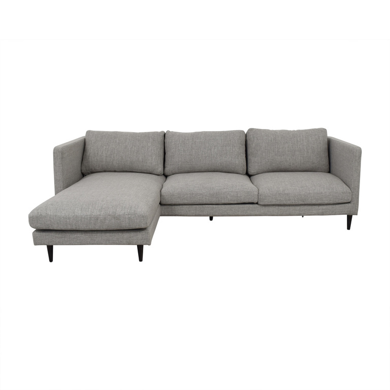 Oliver Grey Reversible Chaise Sectional used