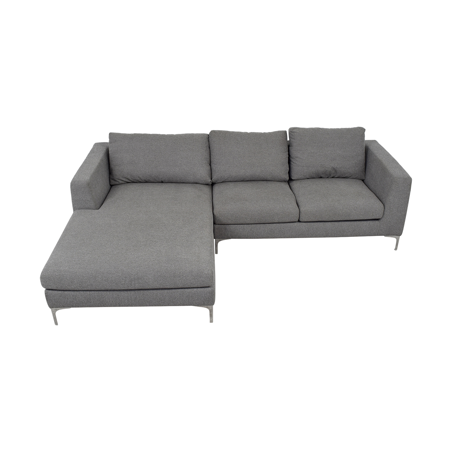 Asher Grey Left Chaise Sectional Sofas