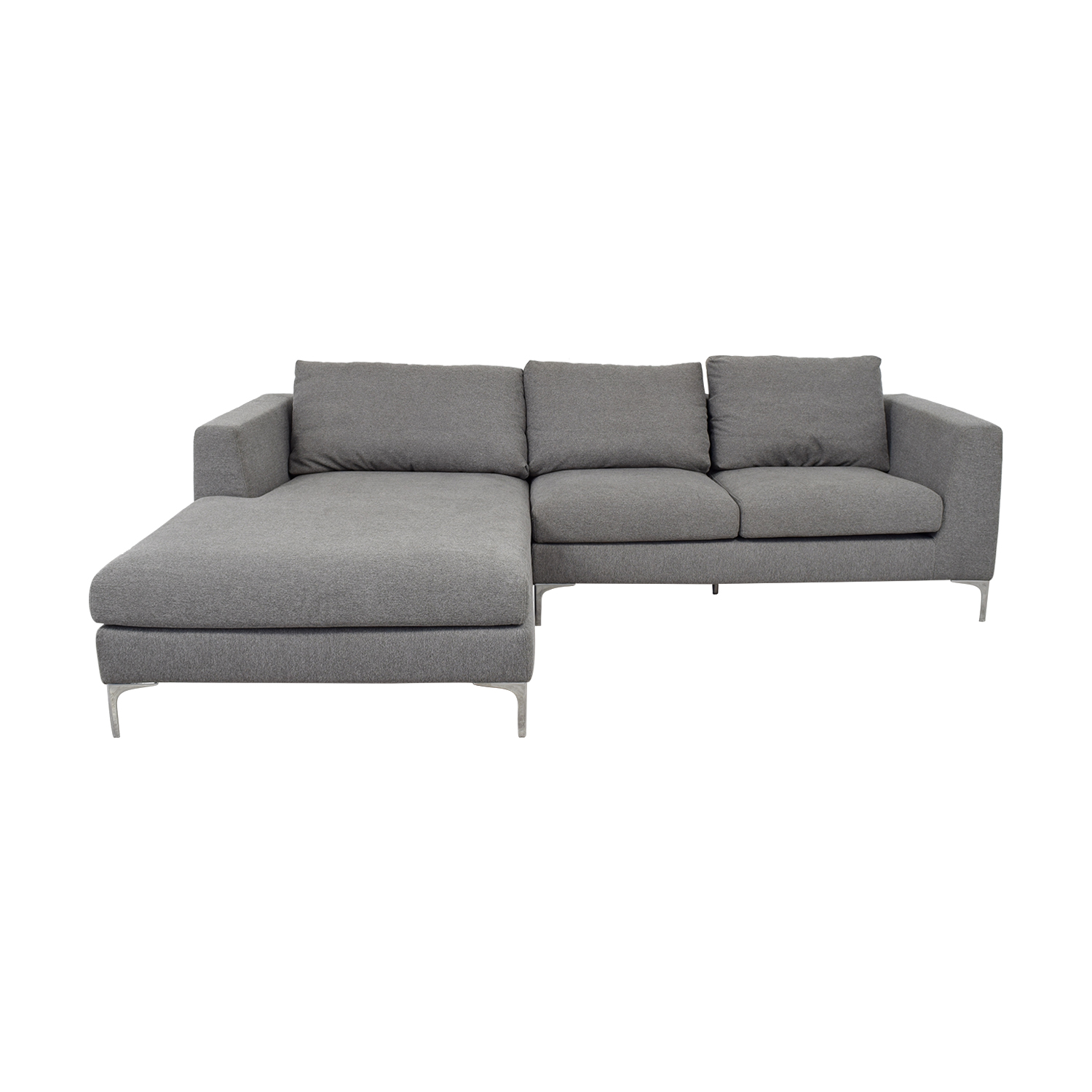 buy Asher Grey Left Chaise Sectional  Sectionals
