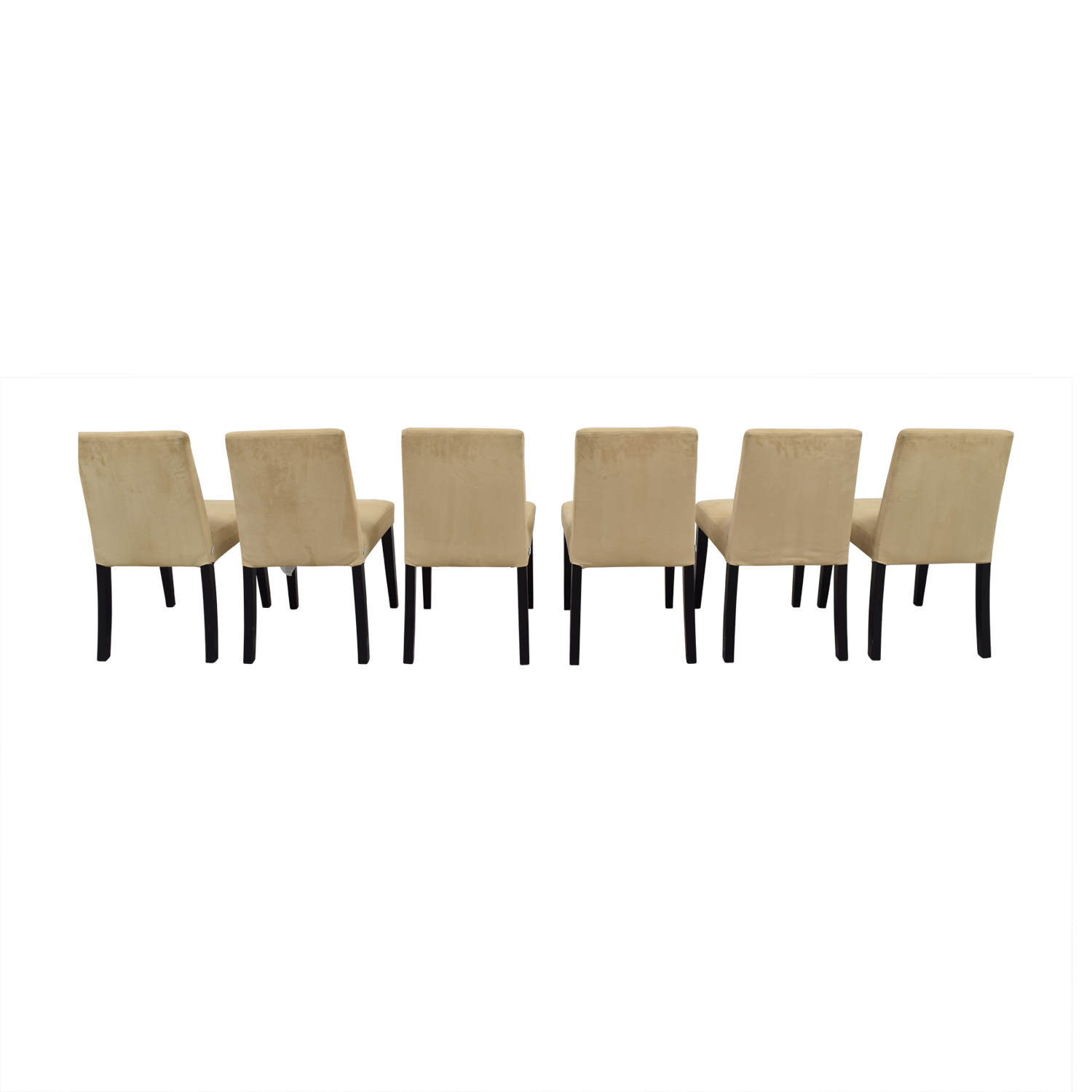 BoConcept Genova Tan Suede Chairs / Dining Chairs