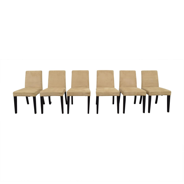 BoConcept BoConcept Genova Tan Suede Chairs Beige