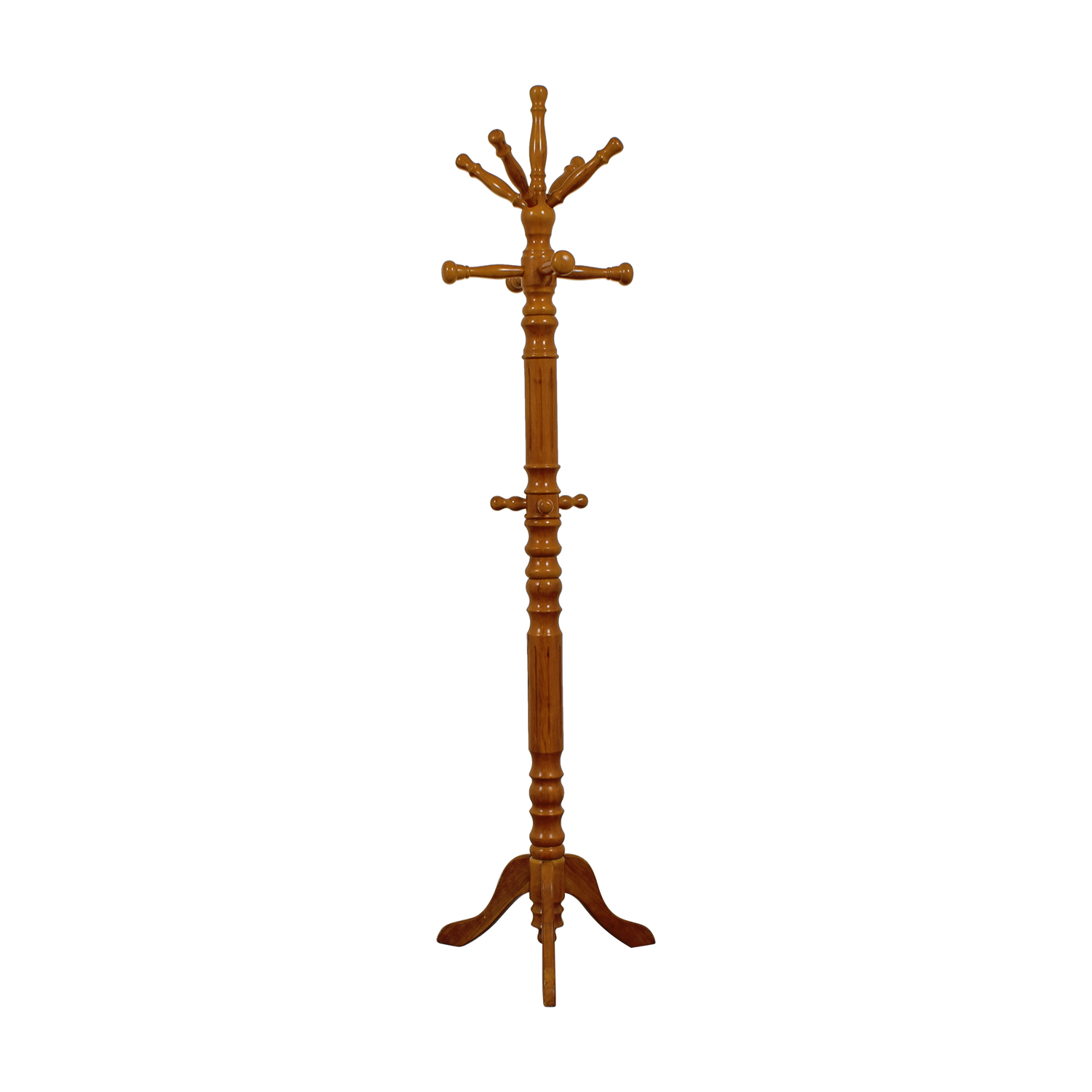 Carved Wood Coat Rack