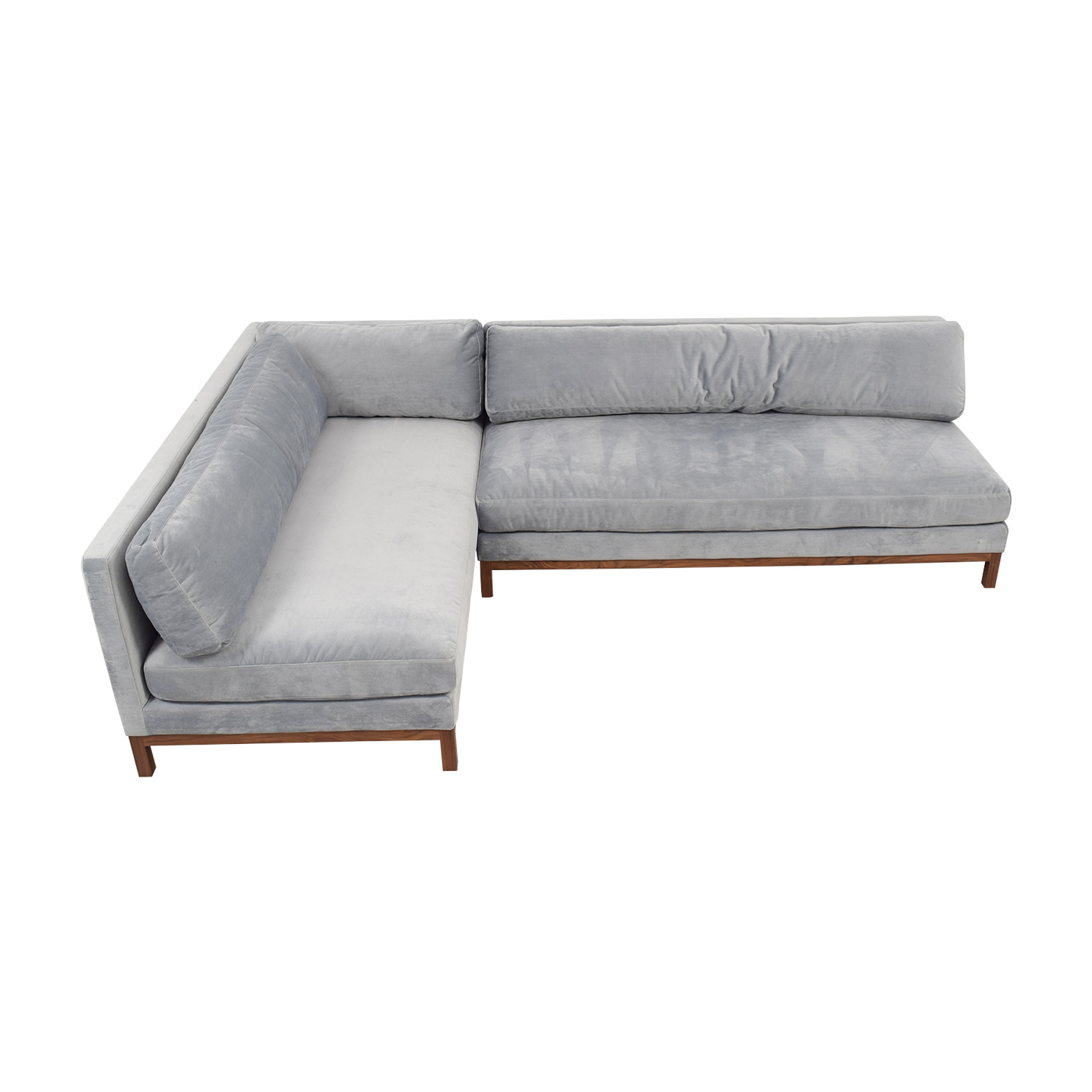 Jasper Gray Short Deep Left Chaise Sectional Sofa used