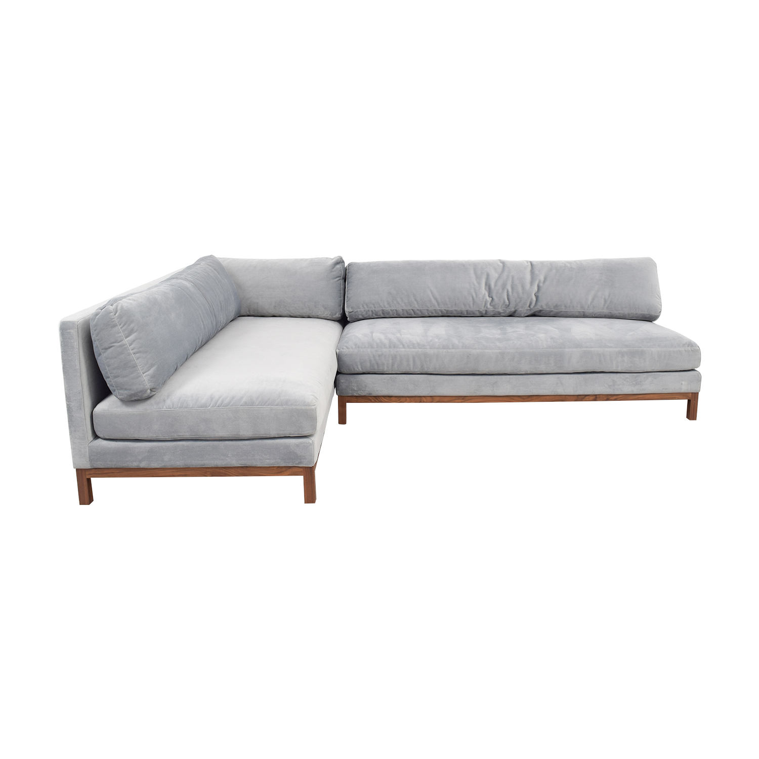 buy Jasper Gray Short Deep Left Chaise Sectional Sofa