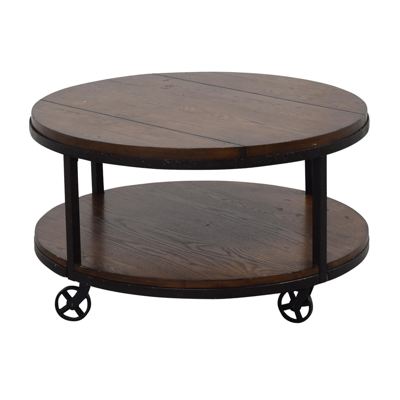 shop Hammary Baha Round Wood Coffee Table Hammary Baha