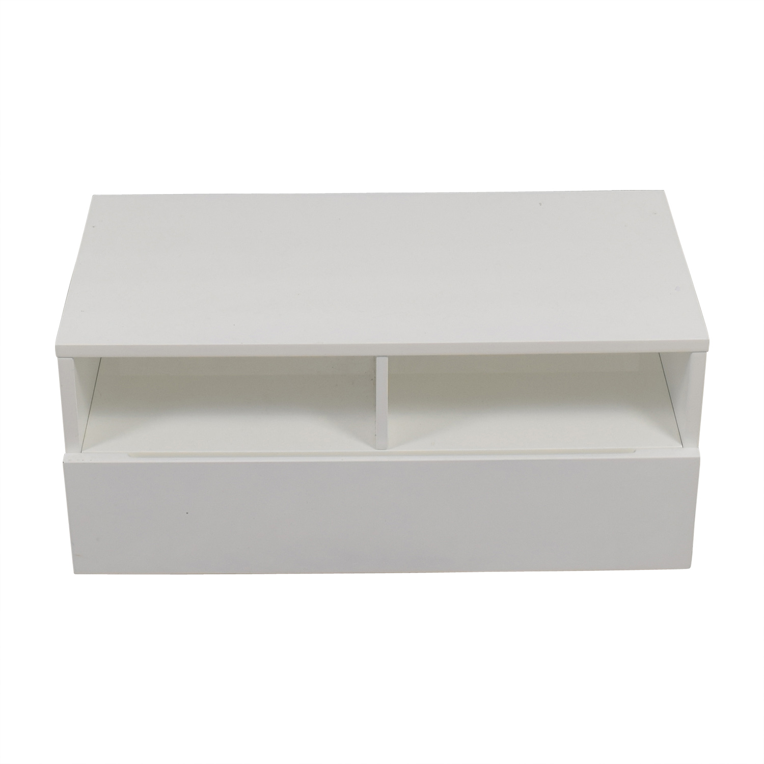 CB2 CB2 Chill White Media Console Storage