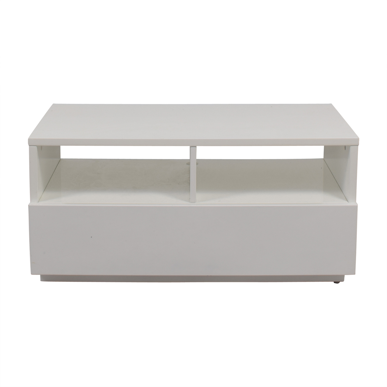 Shop Cb2 Chill White Media Console Cb2 Storage