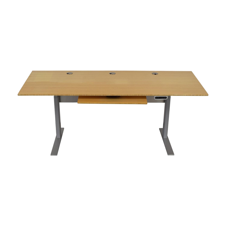 Next Desk Next Desk Terra Classic Standing Desk Light Brown