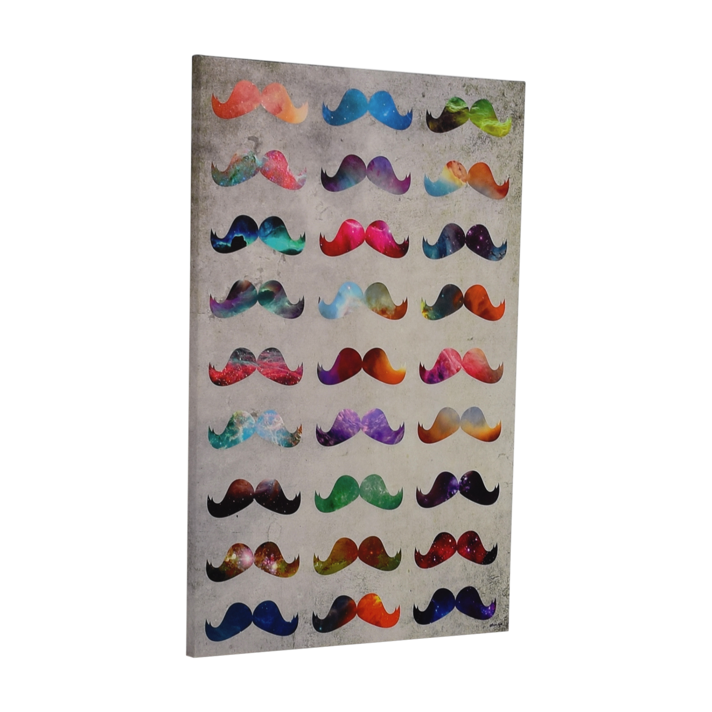 shop Oliver Gal Moustache Madness Fine Art Oliver Gal