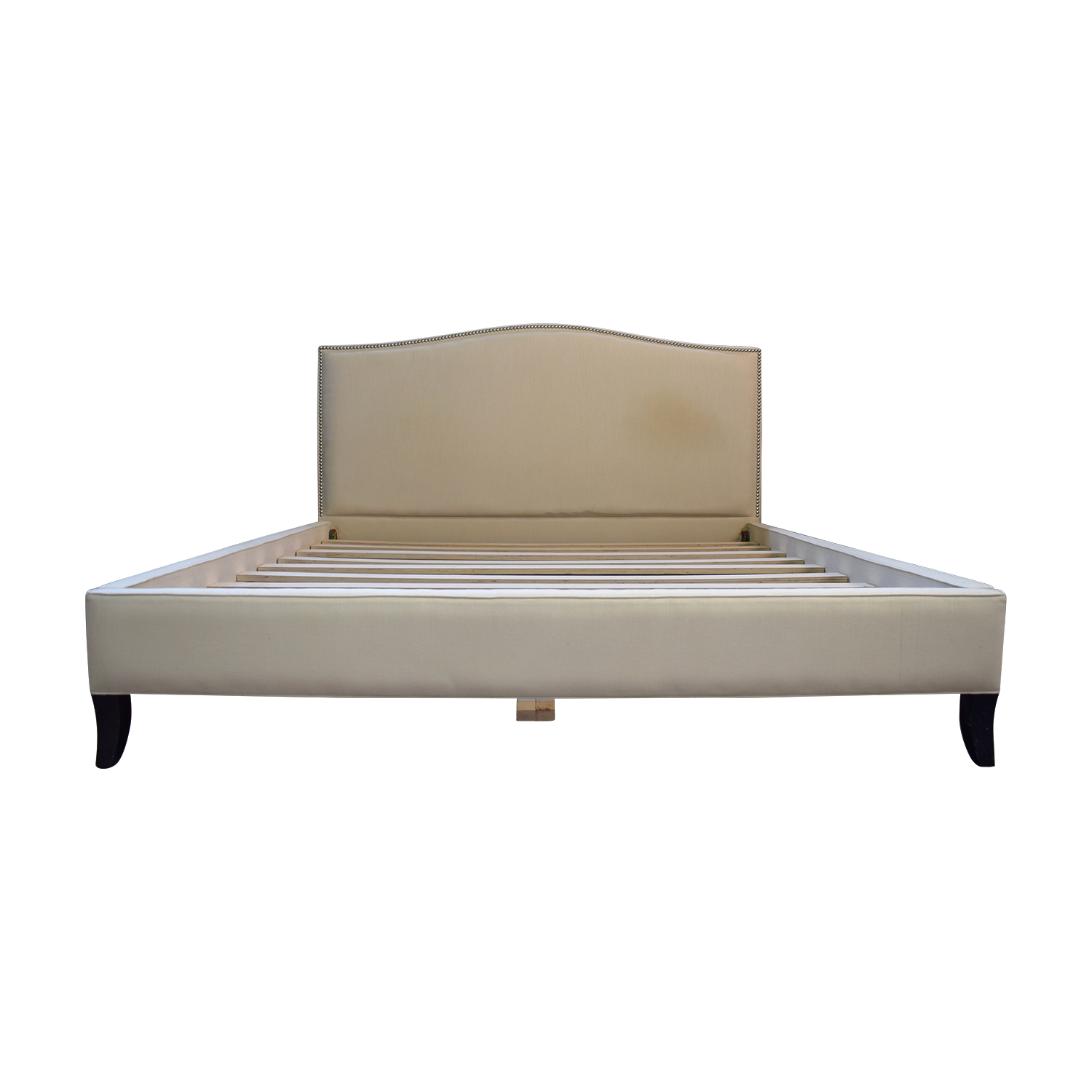 shop Crate & Barrel Crate & Barrel Beige Nailhead King Bed Frame online
