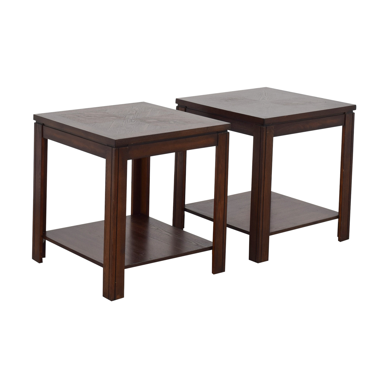 Bob's Furniture Bob's Furniture Lower Shelf End Tables Brown