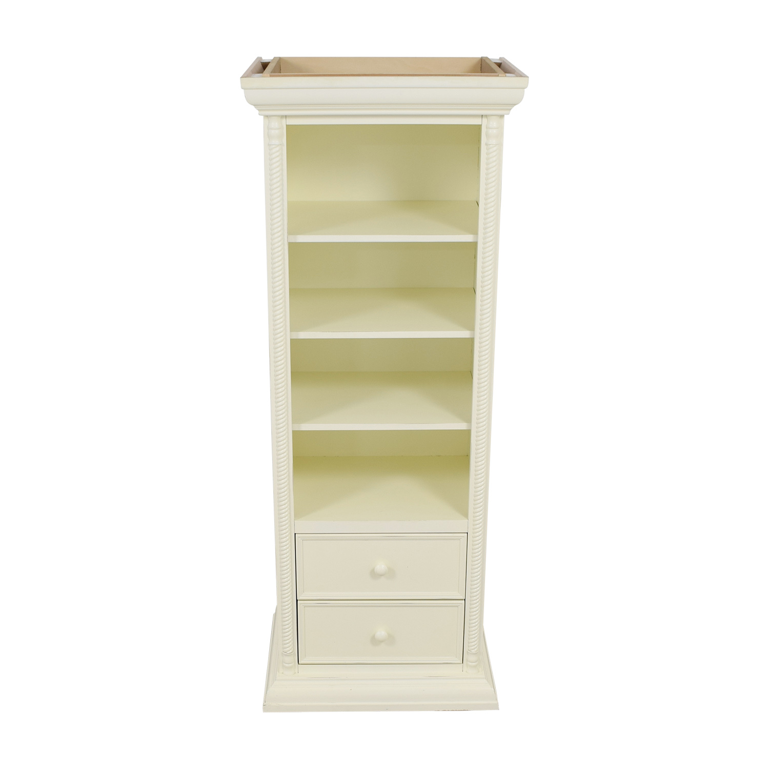 buy Bellini White Two-Drawer Bookcase Bellini Bookcases & Shelving