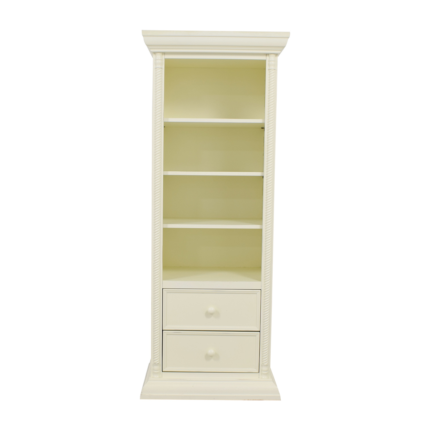 Bellini Bellini White Two-Drawer Bookcase nyc