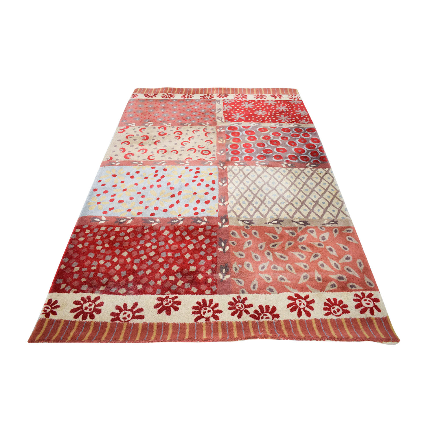 Pottery Barn Pottery Barn Red Multi-Colored Rug nj